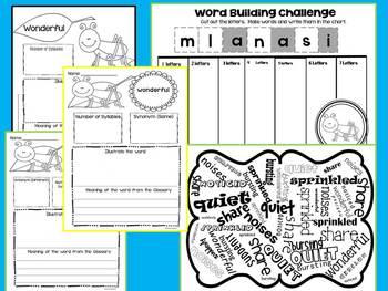 """Journeys Literacy Supplement 2nd Grade """"Teacher's Pets"""" 1.5"""