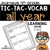 Journeys 2nd Grade Tic-Tac-Vocabulary BUNDLE - ALL YEAR LONG!