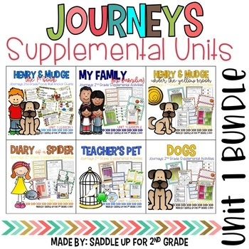 Journeys 2nd Grade Unit 1 Bundle Supplemental Activities