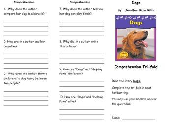 Journeys 2nd Grade Unit 1 Comprehension Tri-Fold