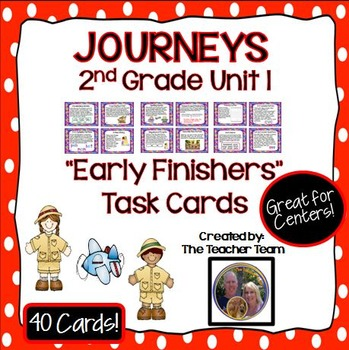Journeys 2nd Grade Unit 1 Task Cards Supplemental Materials 2011