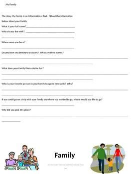 Journeys 2nd Grade Unit 1 Extension Activities