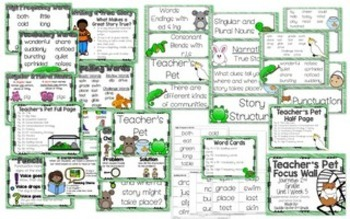 Journeys 2nd Grade Unit 1 Focus Wall Anchor Charts and Word Cards