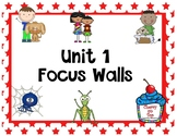 Journeys 2nd Grade Unit 1 Focus Walls