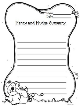 Henry and Mudge Journeys Second Grade Unit 1 Lesson 1 Packet