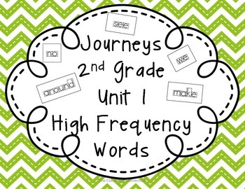Journeys 2nd Grade Unit 1 High Frequency Words