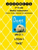 "Journeys 2nd Grade Unit 1 Lesson 3 ""Dogs"" Assessment"