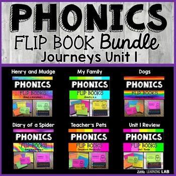 Journeys 2nd Grade | Unit 1 | Phonics Flip Book Bundle