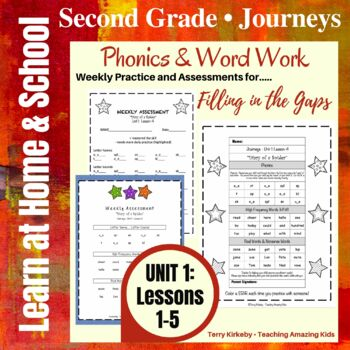 Journeys - 2nd Grade/Unit 1 - Precise Word Work/Assessment to Fill in the Gaps