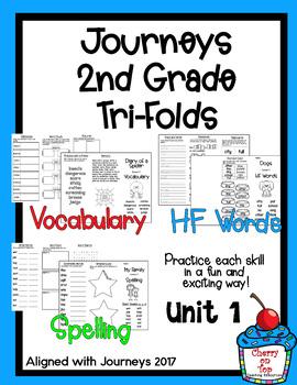 Journeys 2nd Grade Unit 1 Tri-folds