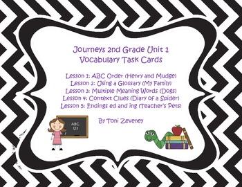 Journeys Grade 2 Unit 1 Vocabulary Task Cards Bundle