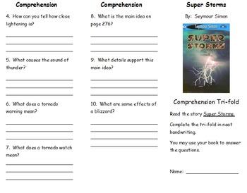 Journeys 2nd Grade Unit 2 Comprehension Tri-Fold