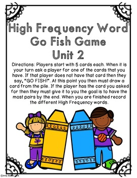 Journeys 2nd Grade Unit 2 High Frequency Word Centers