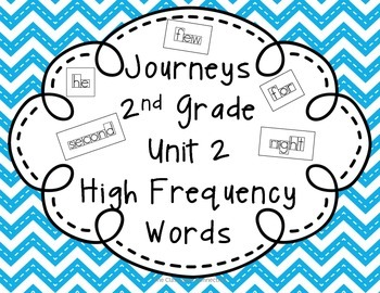 Journeys 2nd Grade Unit 2 High Frequency Words