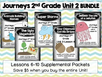 Journeys 2nd Grade Unit 2 Lessons 6-10 BUNDLE