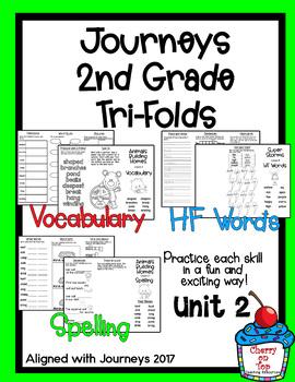Journeys 2nd Grade Unit 2 Tri-folds