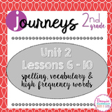 Journeys 2nd Grade Unit 2 Word Cards