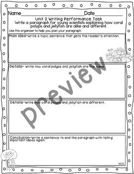 Journeys 2nd Grade- Unit 2 Writing Performance Task