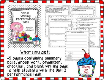 Journeys 2nd Grade- Unit 2 Writing Performance Task