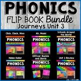 Journeys 2nd Grade | Unit 3 | Phonics Flip Book Bundle