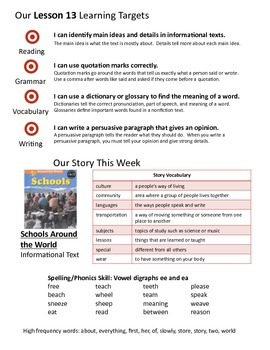 Journeys 2nd Grade Unit 3 Weekly Newsletters