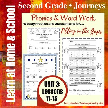 Journeys - 2nd Grade/Unit 3 - Precise Word Work/Assessment to Fill in the Gaps