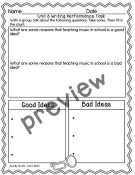 Journeys 2nd Grade- Unit 3 Writing Performance Task