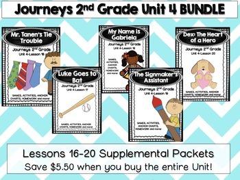 Journeys 2nd Grade Unit 4 Lesson 16-20 BUNDLE