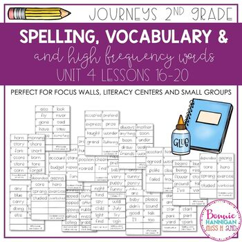 Journeys 2nd Grade Unit 4 Word Cards