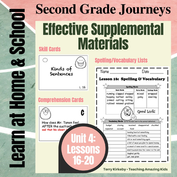 Journeys 2nd Grade - Unit 4 Student Study Guides & Activities for Lessons 16-20
