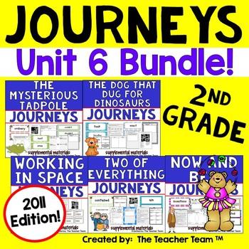 Journeys 2nd Grade Unit 6 Activities Bundle 2011