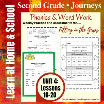 Journeys - 2nd Grade/Unit 4 - Precise Word Work/Assessment to Fill in the Gaps
