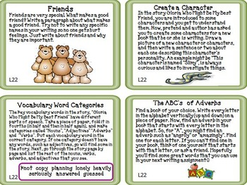Journeys 2nd Grade Unit 5 Task Cards Supplemental Materials 2011 version