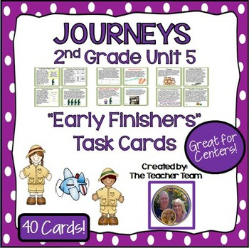Journeys 2nd Grade Unit 5 Early Finishers Task Cards 2011