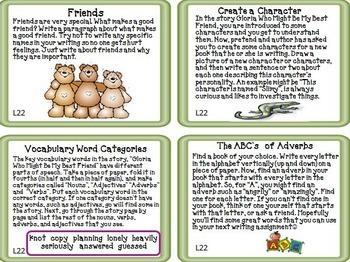Journeys 2nd Grade Unit 5 Task Cards Supplemental Materials CC 2014 or 2017