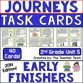 Journeys 2nd Grade Unit 5 Early Finishers Task Cards 2014