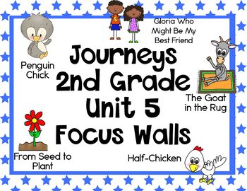 Journeys 2nd Grade Unit 5 Focus Walls