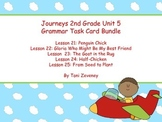 Journeys Grade 2 Unit 5 Grammar Task Card Bundle
