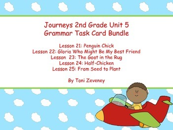 Journeys Grade 2 Unit 5 Grammar Task Card Bundle