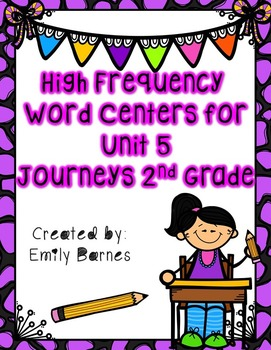 Journeys 2nd Grade Unit 5 High Frequency Word Centers