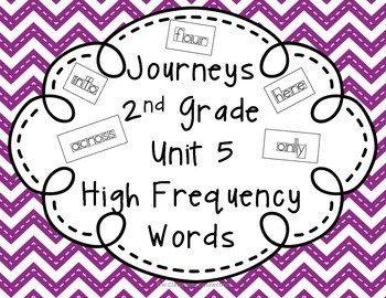 Journeys 2nd Grade Unit 5 High Frequency Words