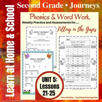 Journeys - 2nd Grade/Unit 5 - Precise Word Work/Assessment to Fill in the Gaps