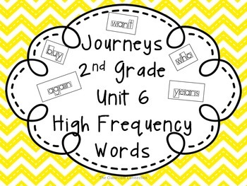 Journeys 2nd Grade Unit 6 High Frequency Words