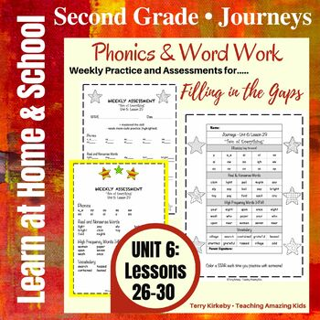 Journeys - 2nd Grade/Unit 6 - Precise Word Work/Assessment to Fill in the Gaps