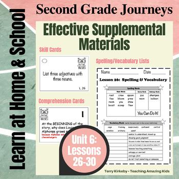 2nd Grade Journeys - Unit 6:  Effective Supplemental Materials