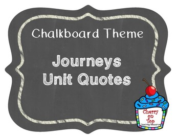 Journeys 2nd Grade Unit Quotes