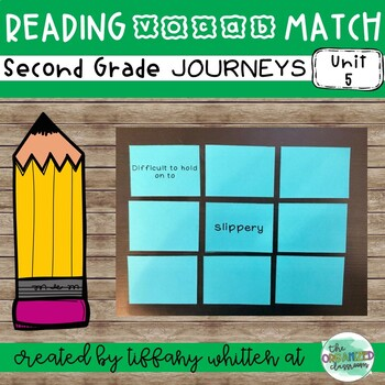 Journeys 2nd Grade Vocab Match- From Seed to Plant