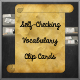 Journeys Unit 1 2nd Grade Vocabulary Clip Cards