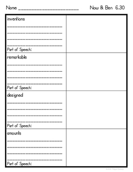 Journeys 2nd Grade Vocabulary Unit 6 Lessons 26-30, Read, Write, Draw