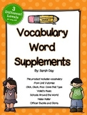 Journeys 2nd Grade Vocabulary Words Supplement, Unit 3 DIF